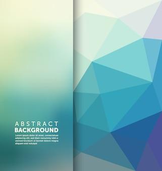Polygonal hintergrund-design
