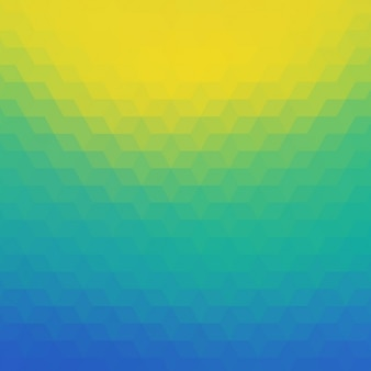 Polygonal hintergrund in blau, tuquoise und gelbtöne