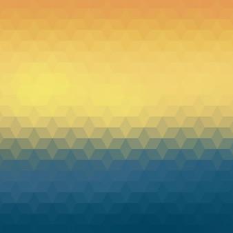 Polygonal hintergrund in gelben und blauen farbtönen
