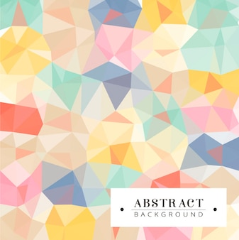 Polygonal hintergrund in schönen farben