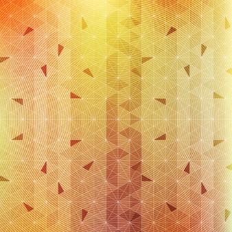Polygonal hintergrund mit gelben dreiecke