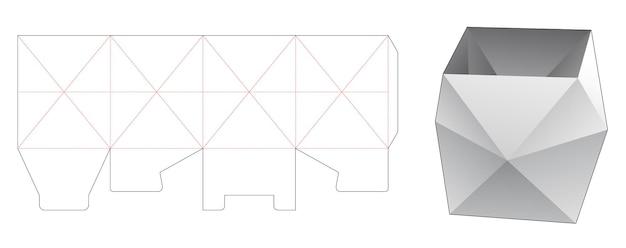 Polygonale briefpapierbox stanzschablone