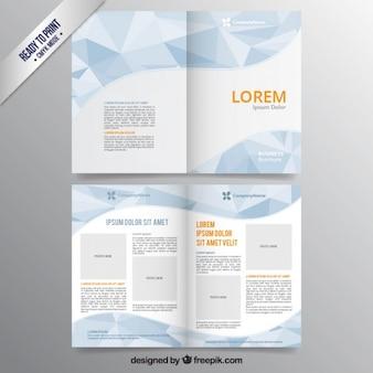 Polygonale broschüre vorlage