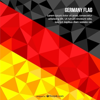 Polygonale deutsche flagge
