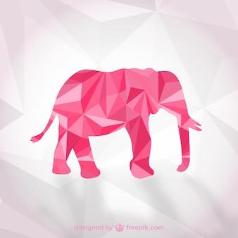 Polygonale elefanten vektor