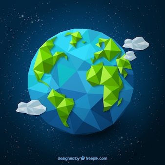 Polygonale Erde