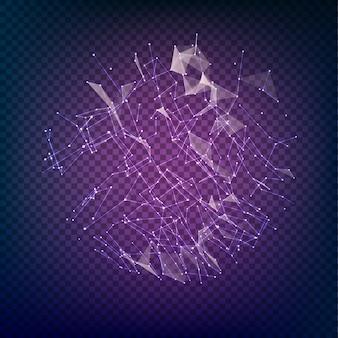 Polygonale form mit punkten