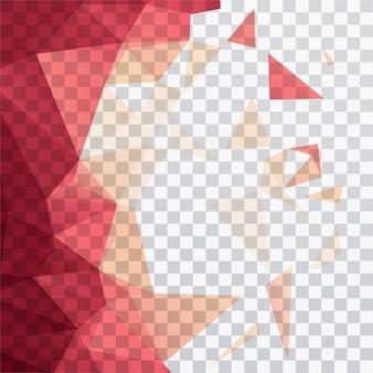 Polygonale formen auf einem transparenten hintergrund