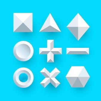 Polygonale formen vektor weiß. vektorillustrationskunst