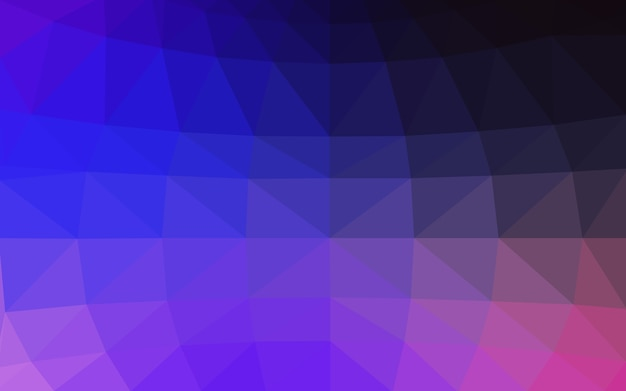 Polygonale illustration des blauen vektors