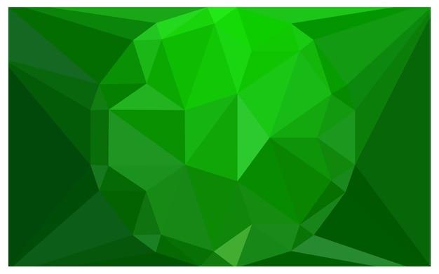 Polygonale illustration des hellgrünen vektors