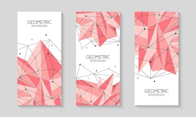 Polygonale rosa abstrakte futuristische vorlage low-poly-zeichen broschürenvorlagen-cover-layout