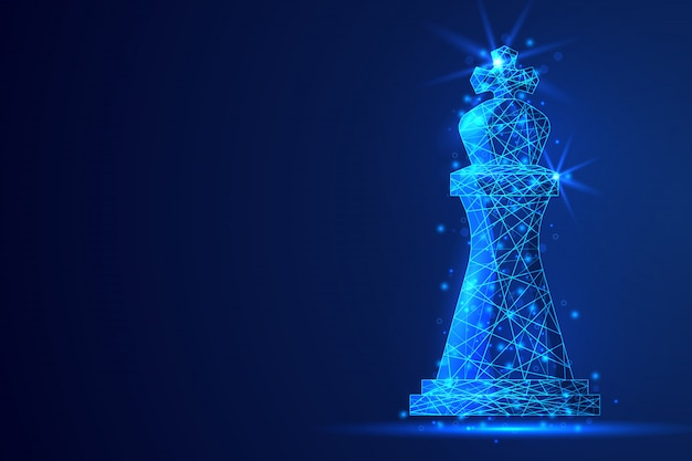 Polygonaler abstrakter hintergrund des schachs.