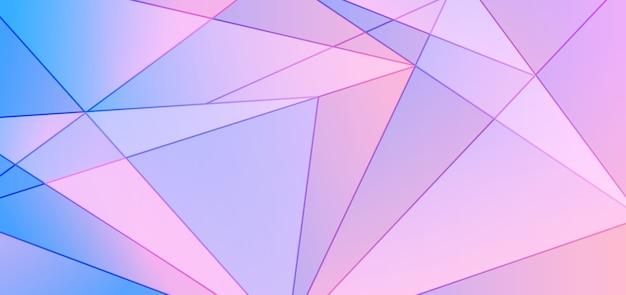 Polygonaler designhintergrund des abstrakten blauen und rosa gradienten