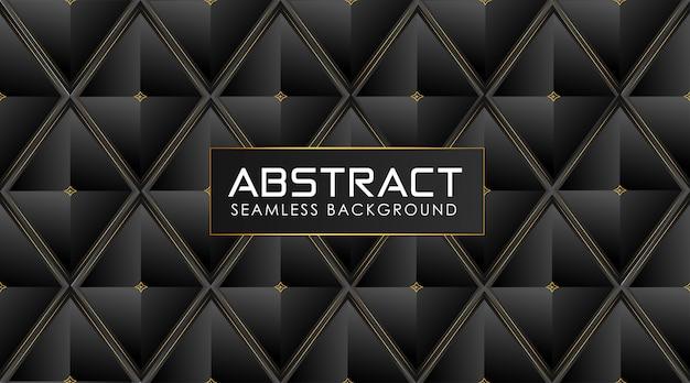 Polygonaler dunkler hintergrund mit glänzenden goldenen abstrakten linien