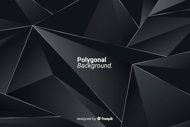 Polygonaler dunkler hintergrund