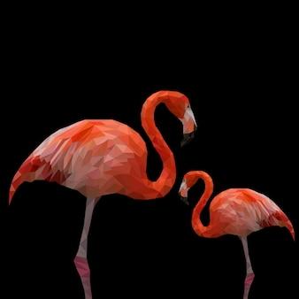Polygonaler flamingo