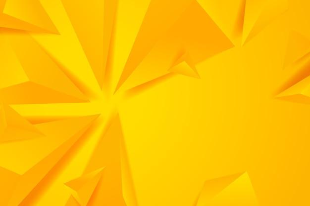 Polygonaler hintergrund 3d mit gelben monochomtönen
