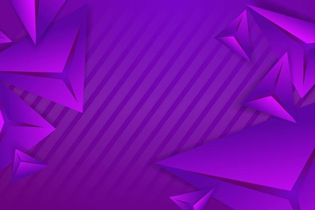 Polygonaler hintergrund 3d mit violetten monochomtönen