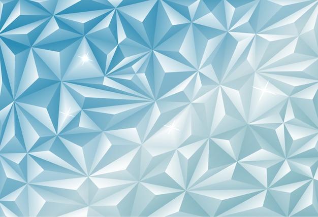 Polygonaler hintergrund der blauen diamantenmine