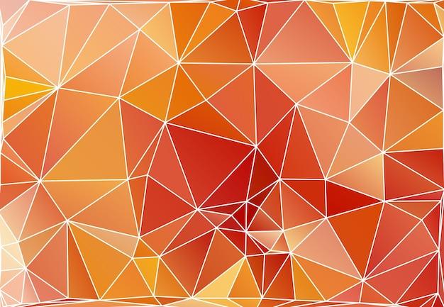 Polygonaler hintergrund des abstrakten dreiecks im vektor