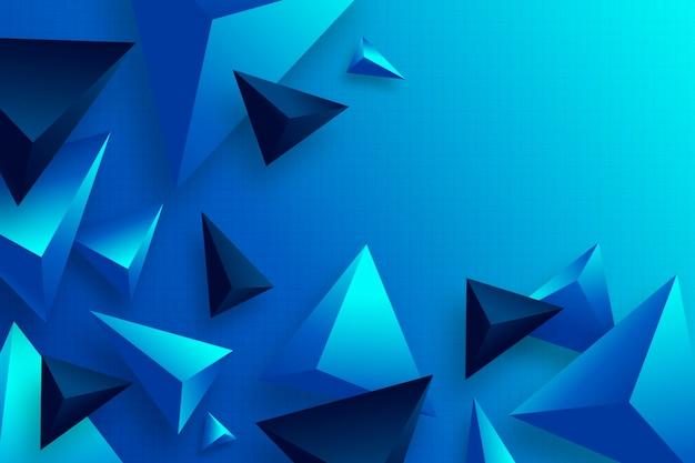 Polygonaler hintergrund mit realistischem farbverlauf