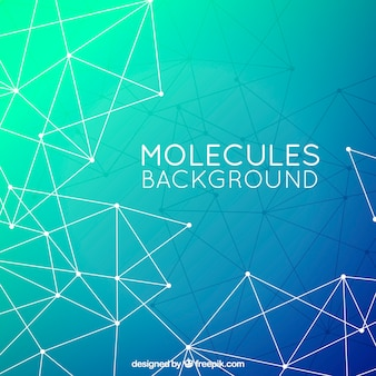 Polygonaler hintergrund von molekülen