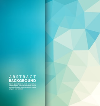 Polygonaler hintergrunddesign