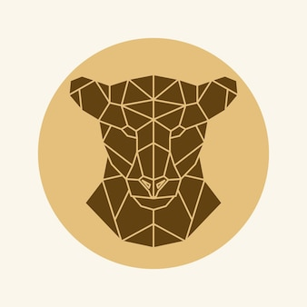 Polygonaler löwinkopf
