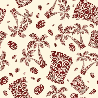 Polynesische exotische nationale muster.