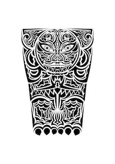 Polynesische tätowierung handgelenk ärmel stammesmuster unterarm. ethnische vorlage ornamente vektor.