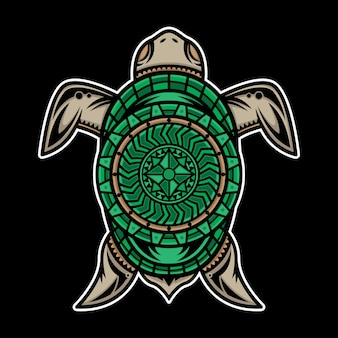 Polynesisches schildkröten-tattoo-design
