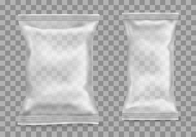 Polypropylen-paket auf transparentem hintergrund. vektor-illustration