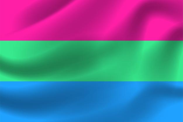 Polysexuelle flagge für lgbtq-freie vektorillustration