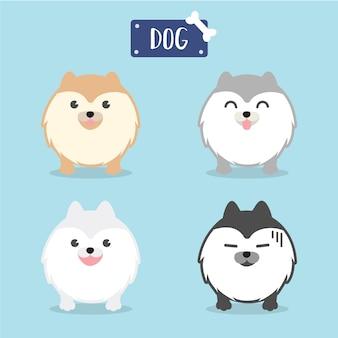 Pomeranian hund der zeichentrickfilm-figur