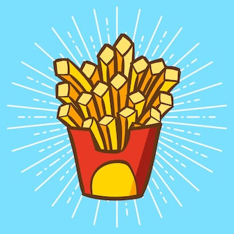 Pommes frites cartoon