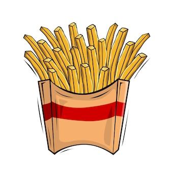 Pommes frites illustrationen bratkartoffeln stick