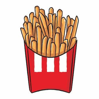 Pommes frites im roten karton