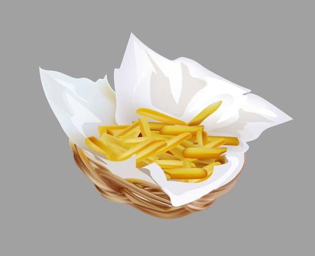 Pommes frites in einem korb