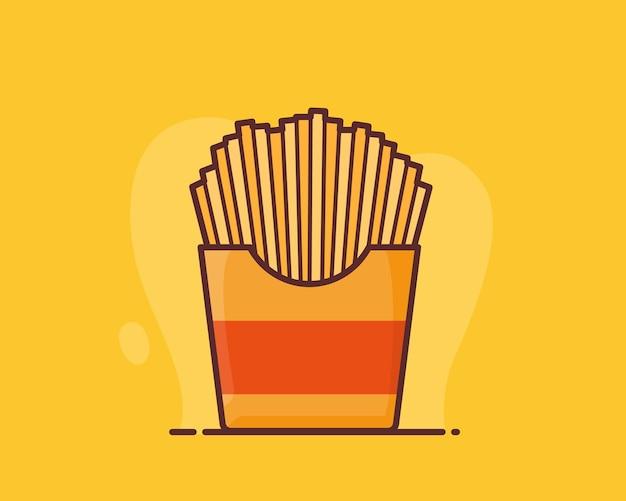 Pommes frites kartoffel knusprig stick
