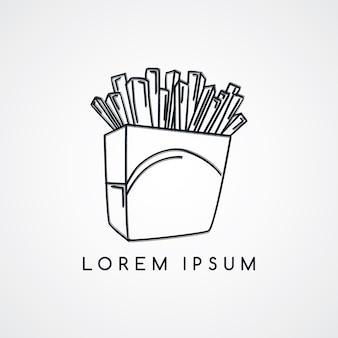 Pommes-frites skizzieren thema vektor kunst illustration