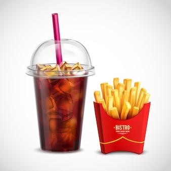 Pommes frites und coca cola