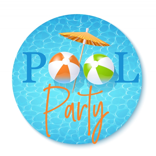 Pool-party einladung