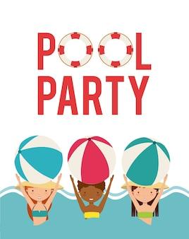 Poolparty genießen symbol