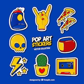 Pop-art-aufkleber mit modernem stil