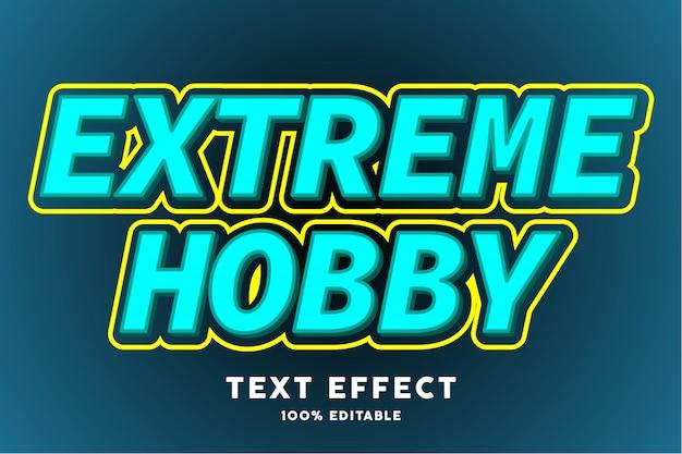 Pop art blaugrüner und gelber texteffekt