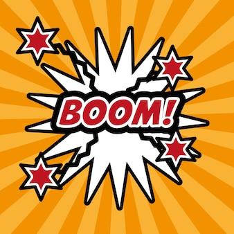 Pop-art-boom comic-blase rede