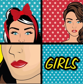 Pop-art-cartoon-grafiken