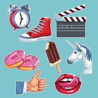 Pop-art-cartoons