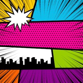 Pop-art-comic-buch-magazin-cover-vorlage cartoon lustiger vintage-streifen-comic-superheld-text